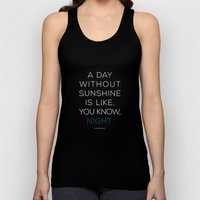 A Day Without Sunshine. Unisex Tank Top