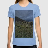 Roseberry Topping Womens Fitted Tee Athletic Blue SMALL