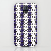 Galaxy S5 Cases featuring Blue eyes by Sydney