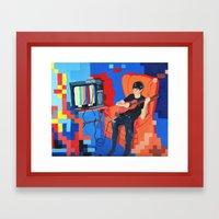 PIXEL BAND Framed Art Print