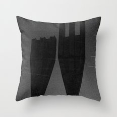 Mysterious Monument with Snow 1 Throw Pillow