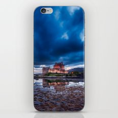 Stormy Skies over Eilean Donan Castle 2 iPhone & iPod Skin