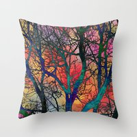Dreamy Sunset Throw Pillow