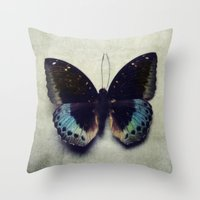 Vintage Butterfly 4 Throw Pillow