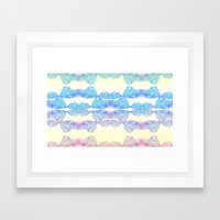 Geometric Swirls Framed Art Print
