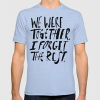 Whitman: We Were Togethe… Mens Fitted Tee Tri-Blue SMALL