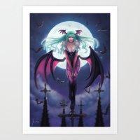 Morrigan - Darkstalkers Art Print