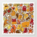 Creatures! Canvas Print