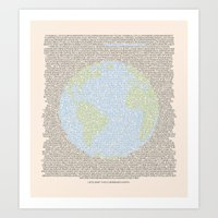 Art Print featuring Environmental Consciousness by Wolves In Space