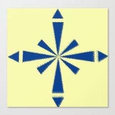 Blue Asterisk Canvas Print