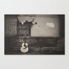 alley guitar Canvas Print