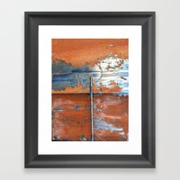 Rust And Metal Framed Art Print