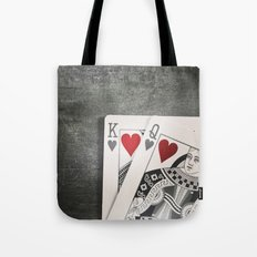 King and Queen of Hearts Tote Bag