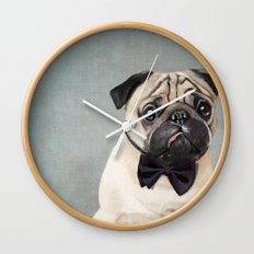 Mr Pug Wall Clock