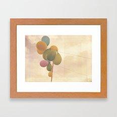 The Vintage Balloons Framed Art Print