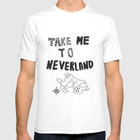 Take me to Neverland  Mens Fitted Tee White SMALL
