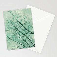 Tree In Green Stationery Cards