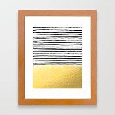 Blaire - Brushed Gold St… Framed Art Print