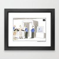 Like Us  On Facebook Framed Art Print