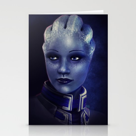 Mass Effect: Liara T'soni Stationery Card