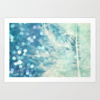Feather & Sparkle Art Print