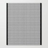 white dots Canvas Print