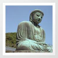 The Great Buddha Of Kama… Art Print