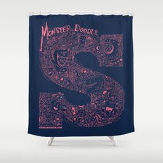 Monster Doodle Shower Curtain