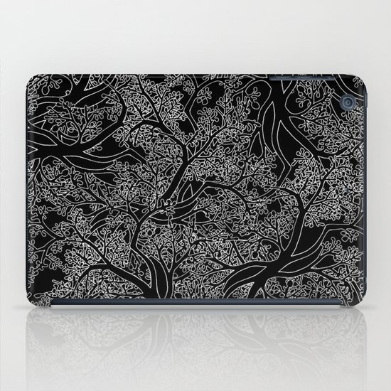 Tree Repeat Black iPad Case