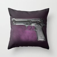 Beretta 92 Throw Pillow