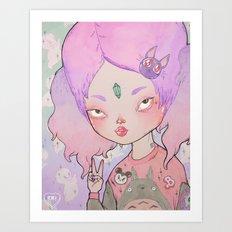 The Little Time Traveler Art Print