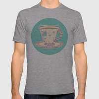 Flamingo tea Mens Fitted Tee Athletic Grey SMALL