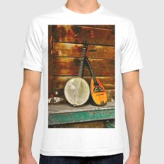 Duet SMALL White Mens Fitted Tee