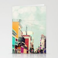 Colorful Buildings Of Ol… Stationery Cards