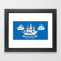 The Candy Armada Framed Art Print