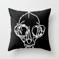Madam Salami Cat Skull Throw Pillow