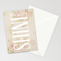 Shine Floral  Stationery Cards