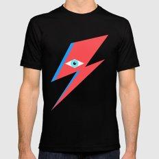 David Bowie  |  Ziggy Stardust  |  Minimalism SMALL Mens Fitted Tee Black