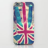 iPhone & iPod Case featuring british flag love by Starr Shaver