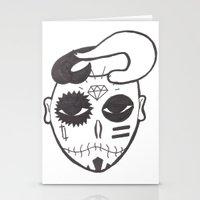 Skull Boy Stationery Cards