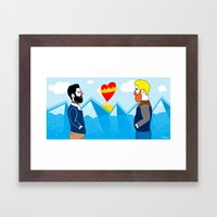 Hot Love  Framed Art Print