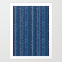 Captain Stripe Art Print
