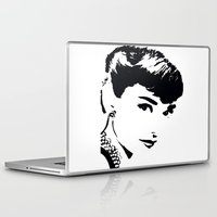 audrey hepburn Laptop & iPad Skins featuring Audrey Hepburn by Saundra Myles