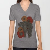 Unisex V-Neck featuring The Elephant by Valentina Harper
