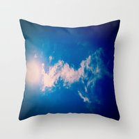 When the sun meets the cloud Throw Pillow