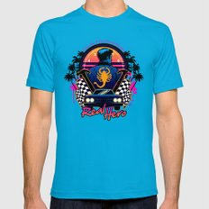 Real Hero Mens Fitted Tee Teal SMALL