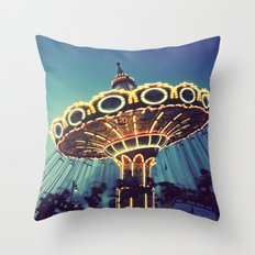 Blue Hour at the Carnival Throw Pillow
