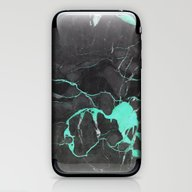 Grey And Blue Marble iPhone & iPod Skin