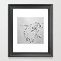 Little Drawing Framed Art Print