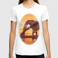 Pan-American Bridge Womens Fitted Tee White SMALL
